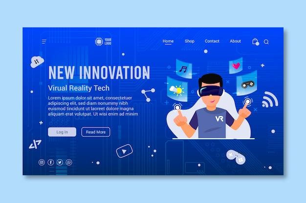 Zielseite für mobile technologie