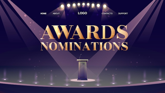 Zielseite für nominierungen für auszeichnungen Kostenlosen Vektoren