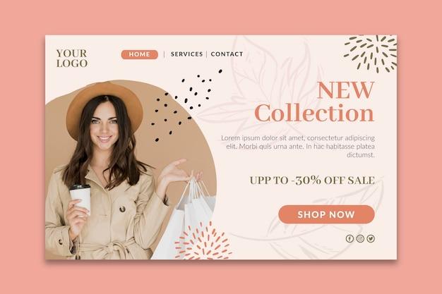 Zielseite für online-einkäufe