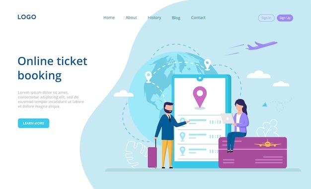 Zielseite für online-ticketbuchung