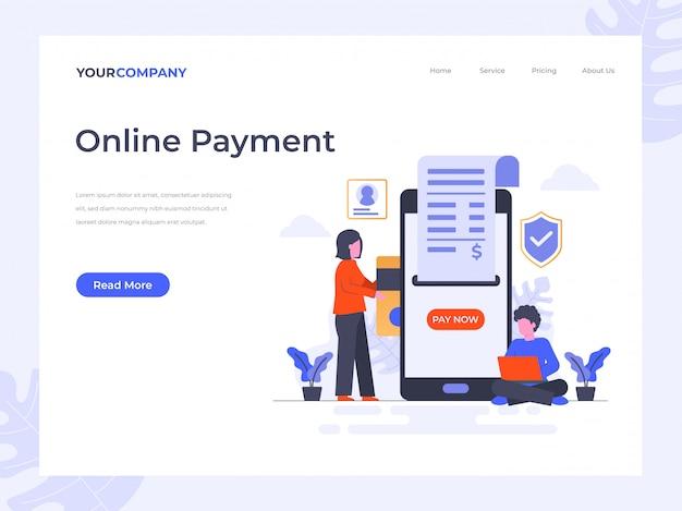 Zielseite für online-zahlung
