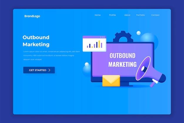 Zielseite für outbound-marketing.