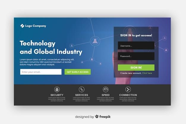 Zielseite für technologie und industrie