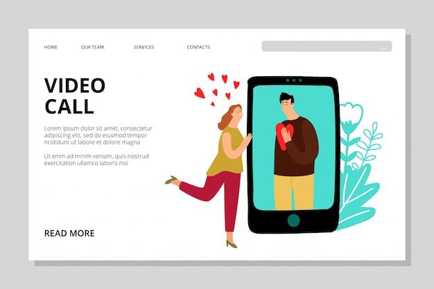 Zielseite für videoanrufe