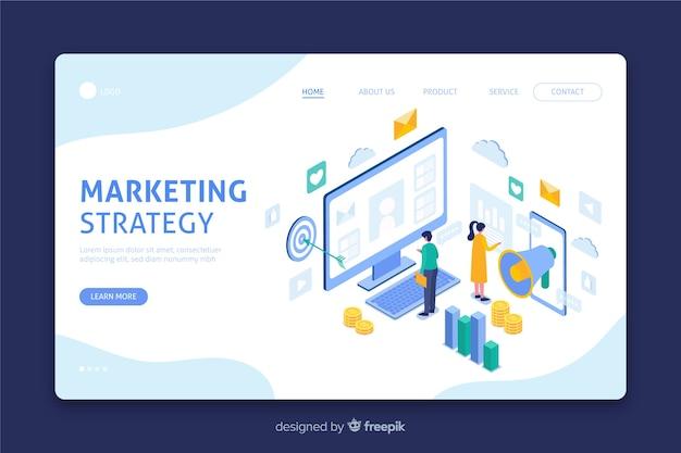 Zielseite mit marketingstrategie