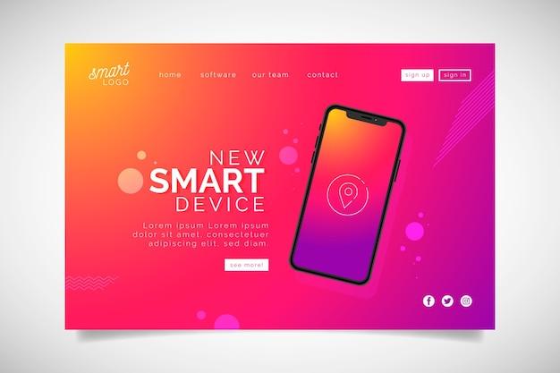 Zielseite mit smartphone