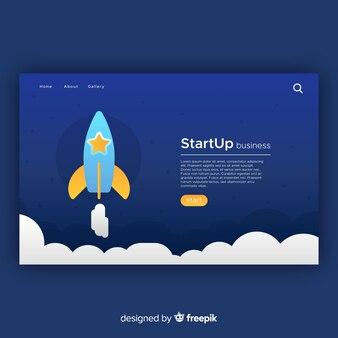 Zielseite mit startup-konzept
