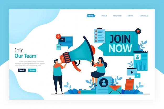 Zielseite von join now