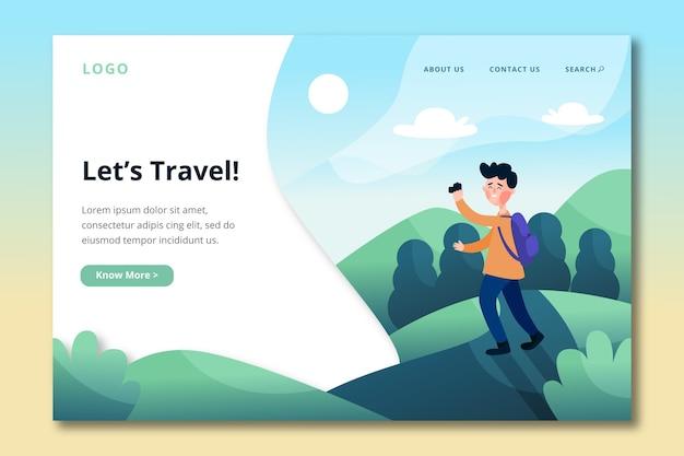Zielseiten-reisevorlage