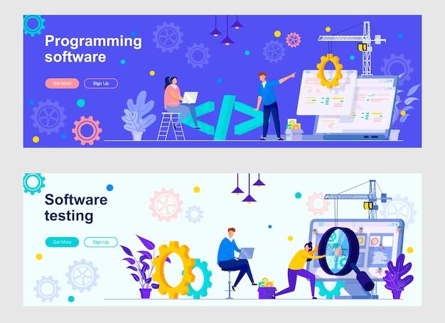 Zielseiten-set der programmiersoftware