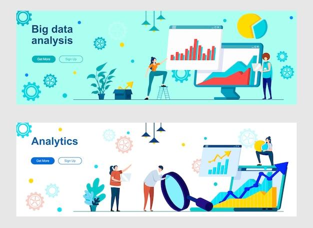 Zielseiten-set für die big-data-analyse