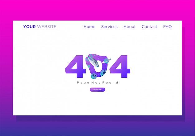 Zielseitenvorlage 404 fehler