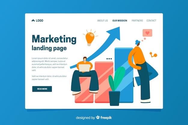 Zielseitenvorlage des marketings