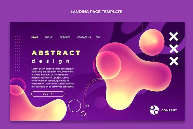 Zielseitenvorlage für abstrakte fluidtechnologie mit farbverlauf