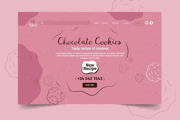 Zielseitenvorlage für cookies