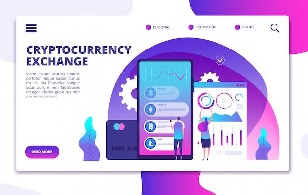 Zielseitenvorlage für den austausch von kryptowährungen