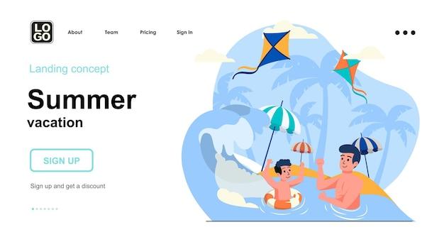 Zielseitenvorlage für den sommerurlaub