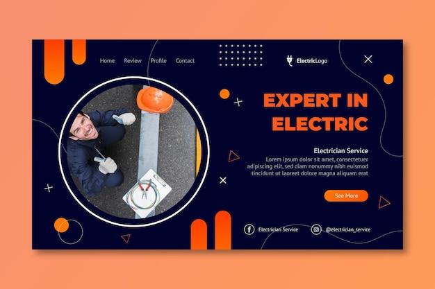Zielseitenvorlage für elektrikerservice electric