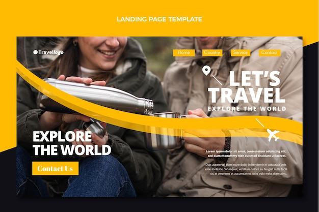 Zielseitenvorlage für flache reisen