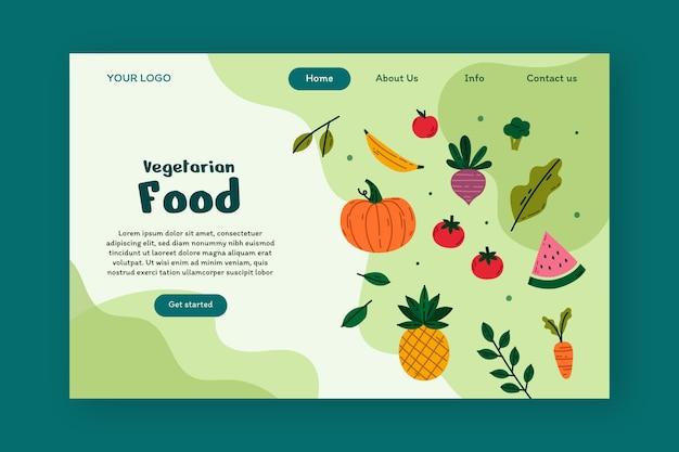 Zielseitenvorlage für gesundes vegetarisches essen