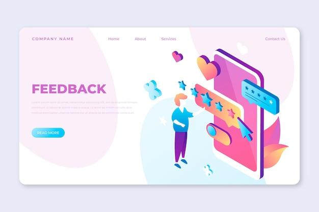 Zielseitenvorlage für isometrisches feedback