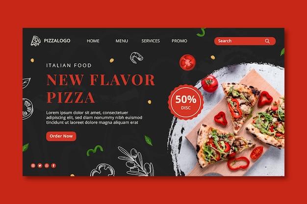 Zielseitenvorlage für italienisches essen