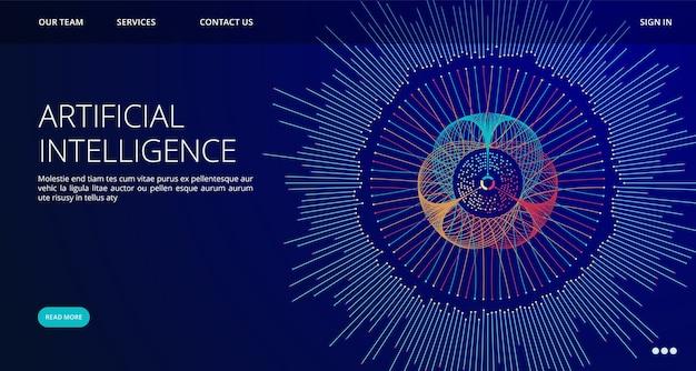 Zielseitenvorlage für künstliche intelligenz