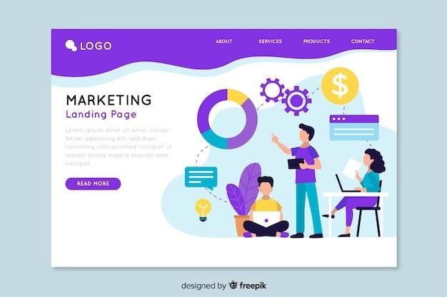 Zielseitenvorlage für marketing