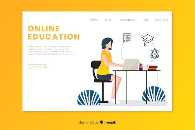 Zielseitenvorlage für online-bildung