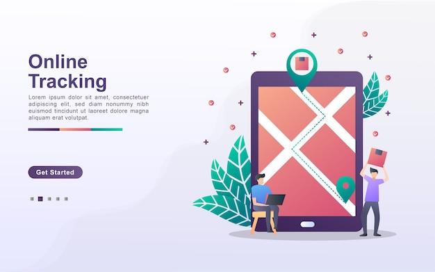 Zielseitenvorlage für online-tracking