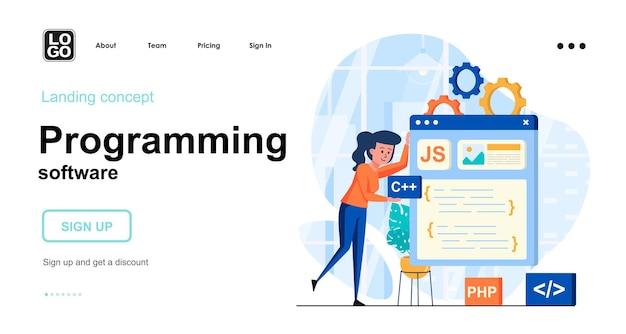 Zielseitenvorlage für programmiersoftware