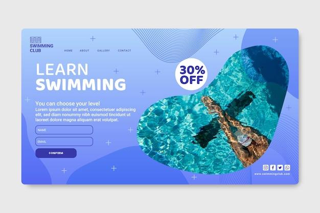 Zielseitenvorlage für schwimmen