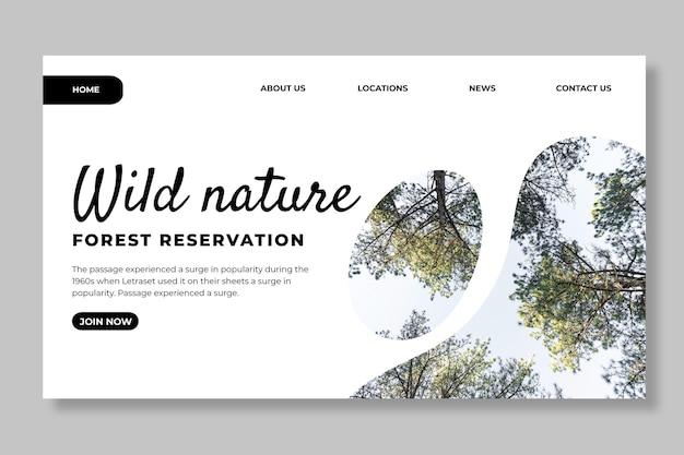 Zielseitenvorlage für wilde natur