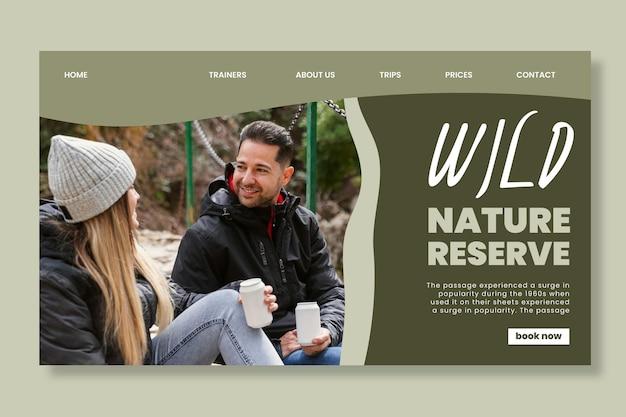 Zielseitenvorlage für wilde natur Kostenlosen Vektoren