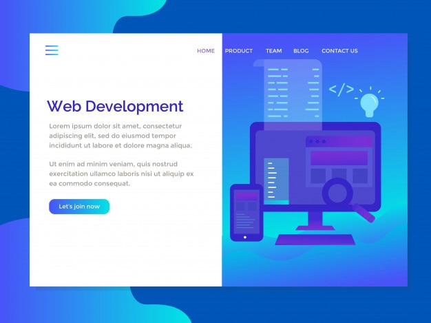 Zielseitenvorlage mit exklusivem web development