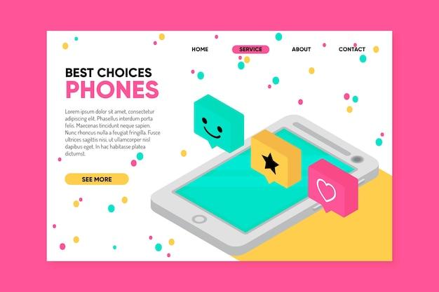 Zielseitenvorlage mit smartphone