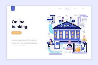 Zielseitenvorlage von Online-Banking