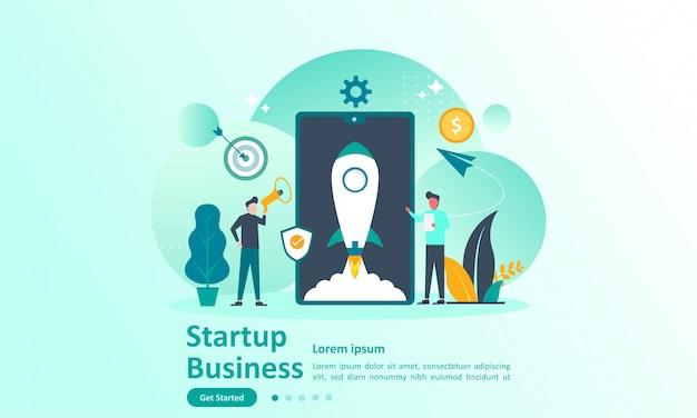 Zielseitenvorlage von startup idea