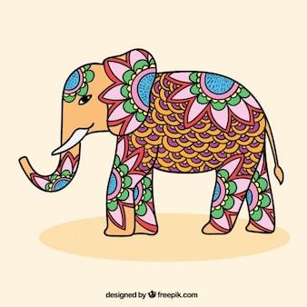 Zier indischer elefant