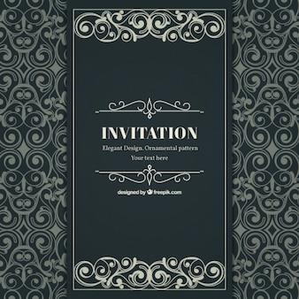 Zier- und elegante einladung im viktorianischen stil