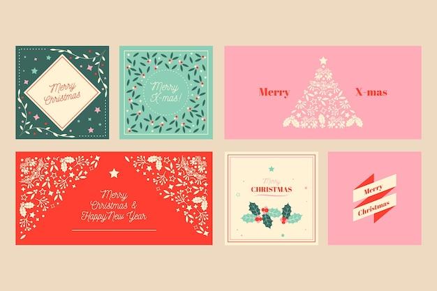 Zierweihnachtskartensammlung