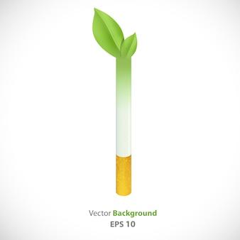 Zigarette wird pflanze