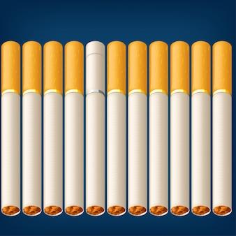 Zigaretten rauchen viel
