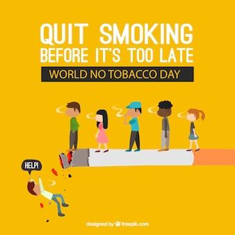 Zigarettenhintergrund mit menschen