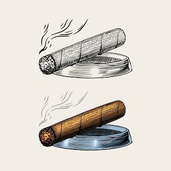 Zigarre oder rauch
