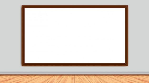 Zimmer mit whiteboard an der wand