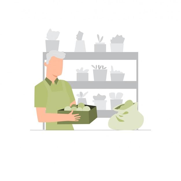 Zimmerpflanzengeschäft. verkauf von topfpflanzen.