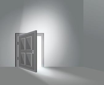 Zimmertür offen