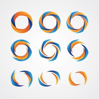 Zirkuläre kreative logos