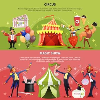 Zirkus-banner gesetzt